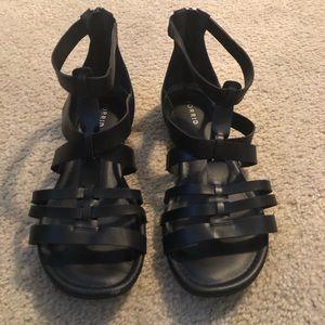 Torrid NBW Black Gladiator Sandals